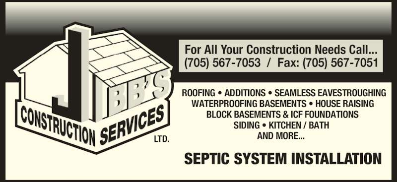 Jibb S Construction Services Ltd Kirkland Lake On 40
