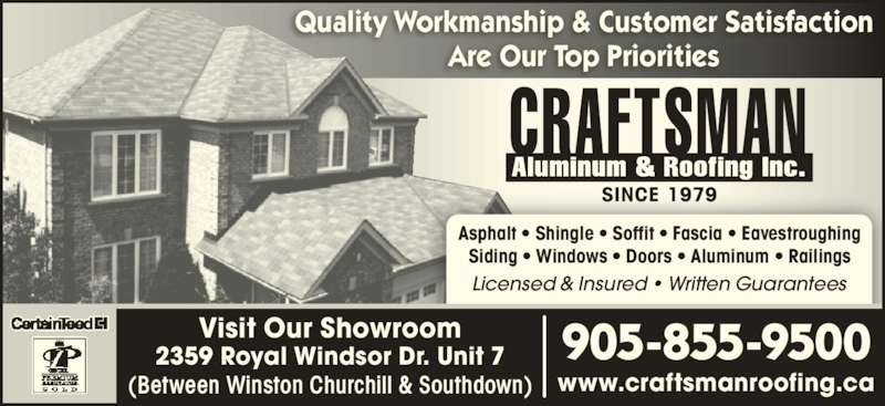 Craftsman aluminum roofing inc mississauga on 7 for Craftsman roofing
