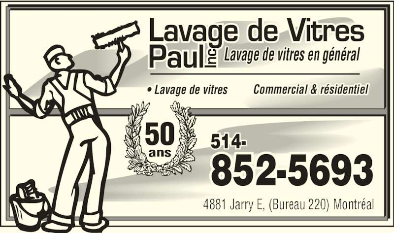 lavage de vitres paul inc 4881 rue jarry e saint l onard qc. Black Bedroom Furniture Sets. Home Design Ideas