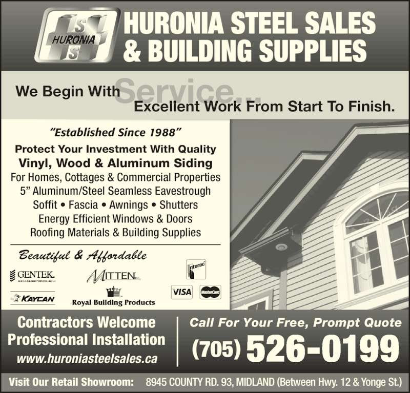 Huronia Steel Sales Amp Building Supplies Opening Hours