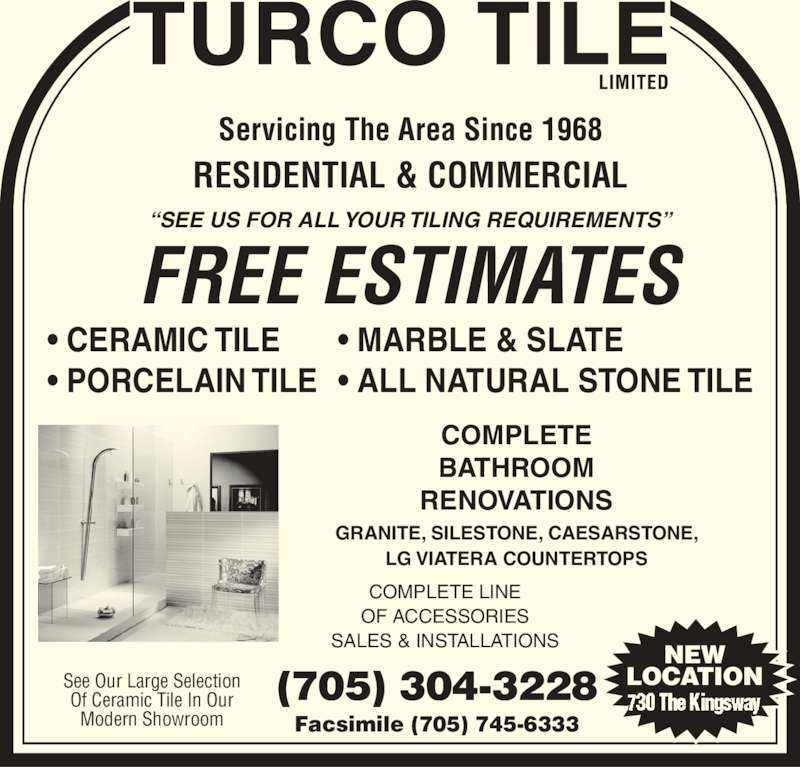 Bathroom showrooms north west - Turco Tile Limited Peterborough On 730 The Kingsway