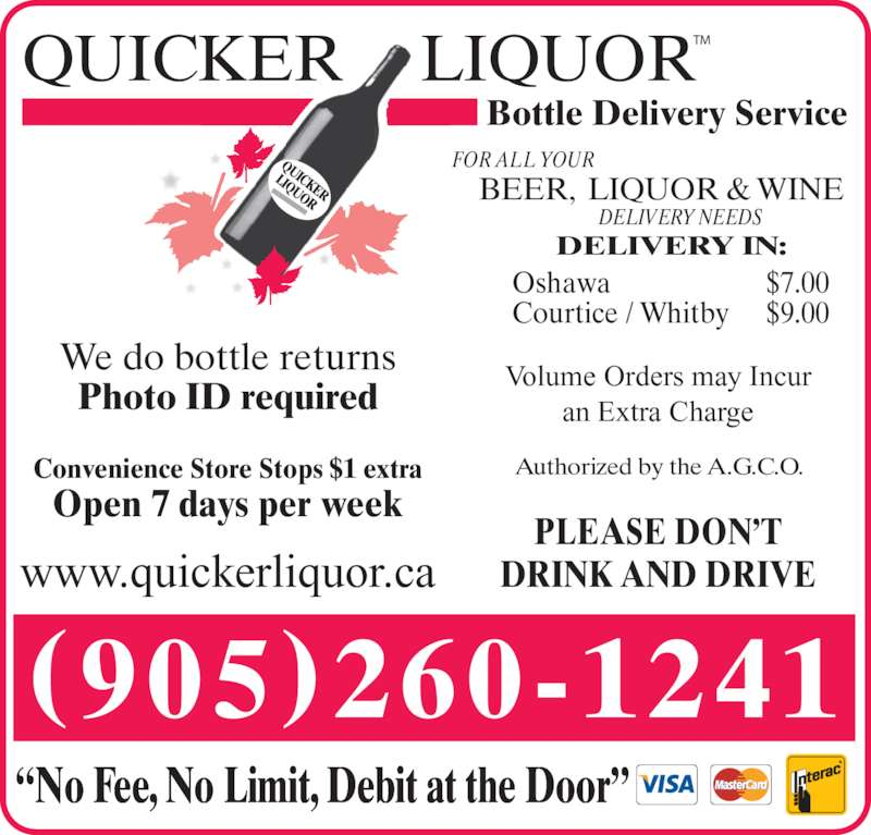 Quicker Liquor Bottle Delivery Service On