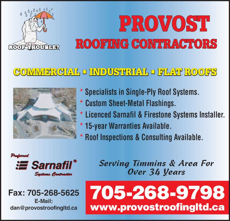 Provost Roofing Ltd Po Box 2188 Stn Main Timmins On