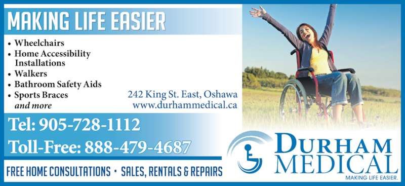 Durham Medical (905-728-1112) - Display Ad -