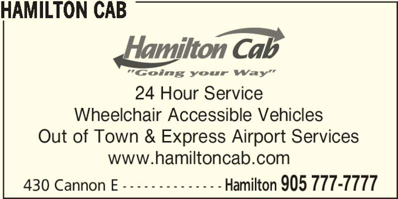 Hamilton Cab (905-777-7777) - Display Ad -