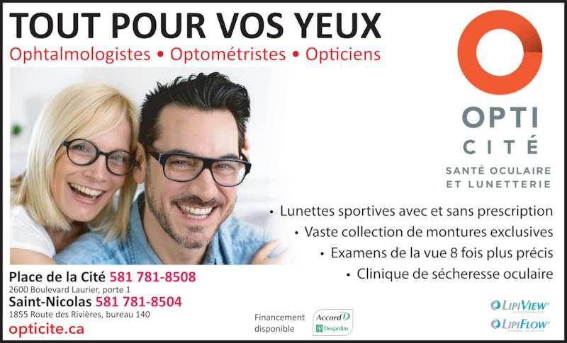 Cité de l'optique (418-650-5065) - Annonce illustrée======= -