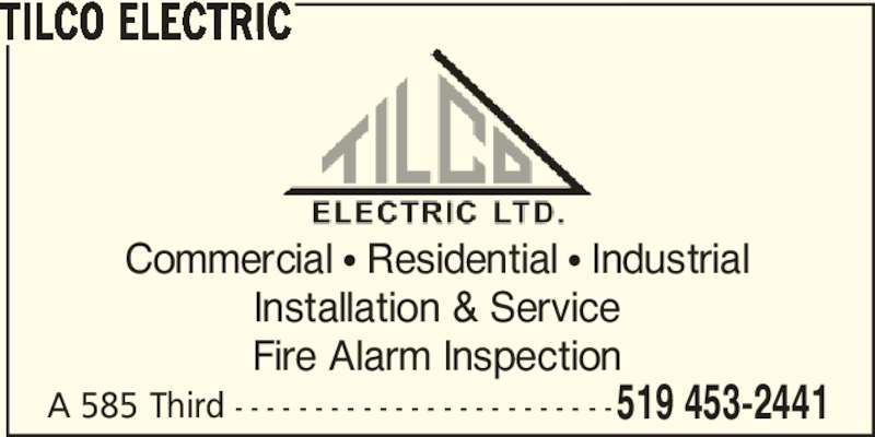 Tilco Electric Opening Hours 585a Third St London On