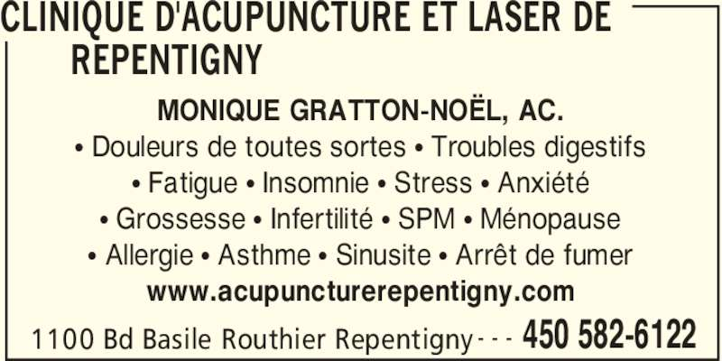 clinique d 39 acupuncture et laser de repentigny repentigny qc 1100 boul basile routhier. Black Bedroom Furniture Sets. Home Design Ideas