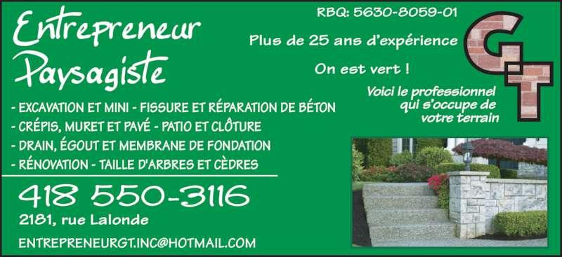 Entrepreneur paysagiste gt jonqui re qc 2181 rue for Entrepreneur paysagiste