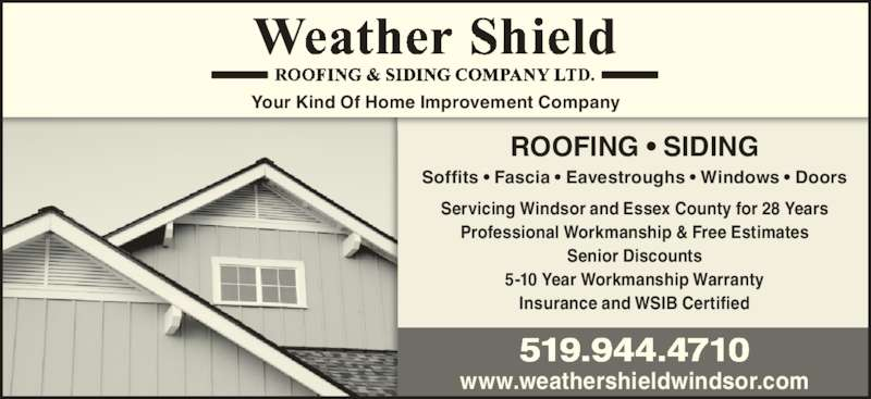 Weather Shield Siding Construction Windsor On 1015 Homedale Blvd Canpages