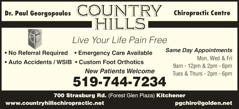 Country Hills Chiropractic Kitchener