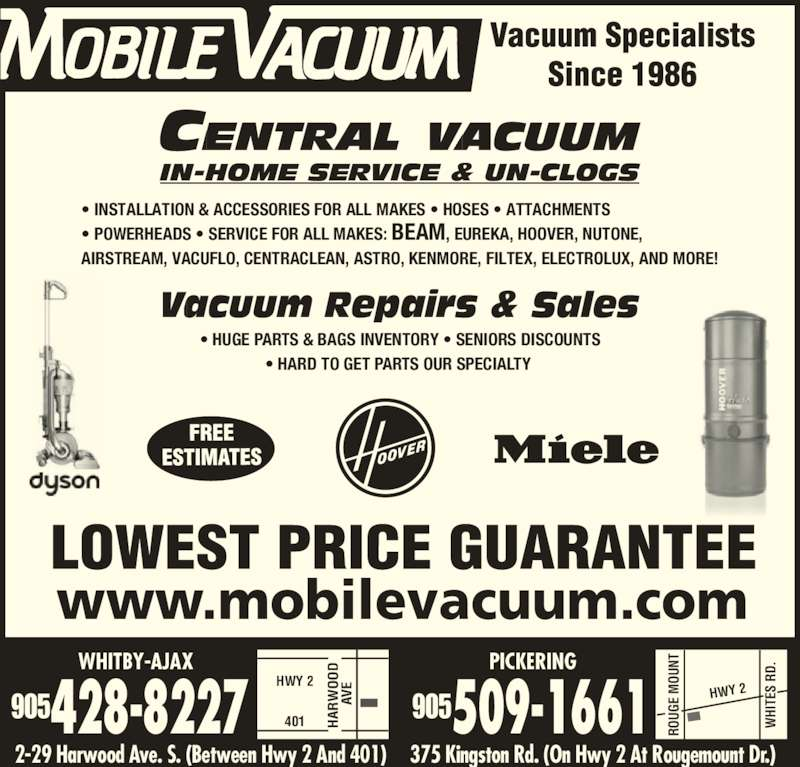 Mobile Vacuum Opening Hours 29 Harwood Ave S Ajax On