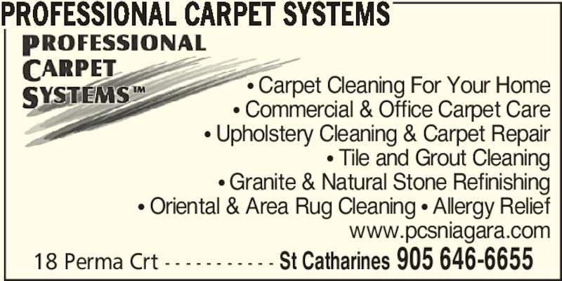 Professional Carpet Systems St Catharines On 18 Perma