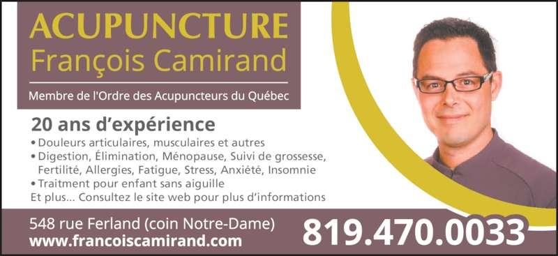 Acupuncture François Camirand - 548 rue Ferland