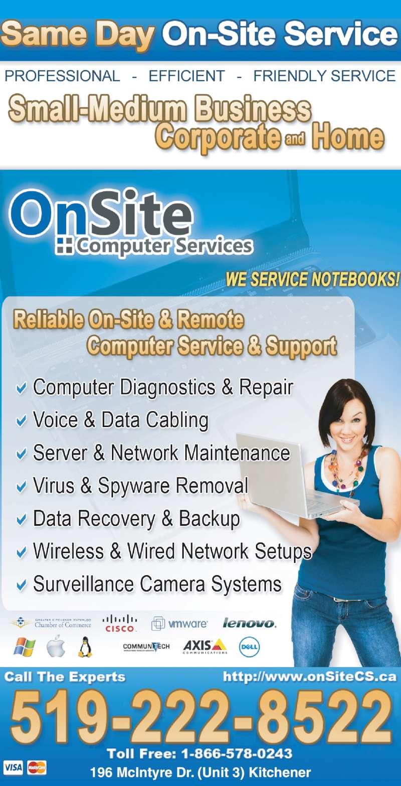 Onsite Computer Services 196 Mcintyre Dr Kitchener On