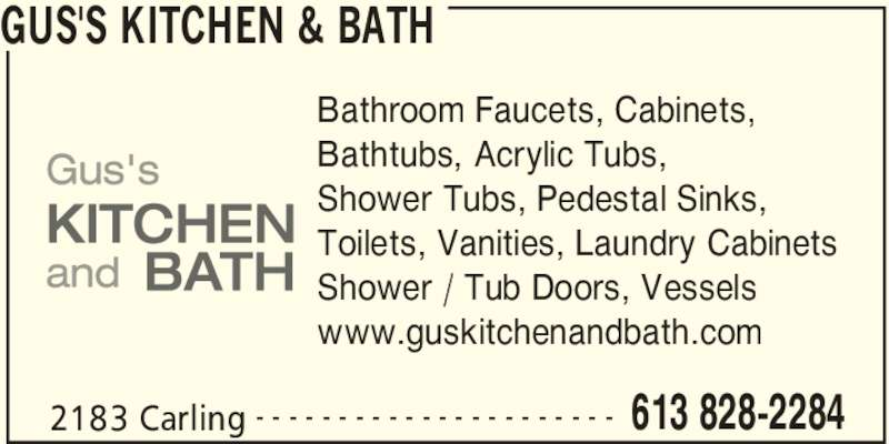 Gus 39 s kitchen bath opening hours 2183 carling ave for V bathroom opening hours
