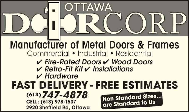 Doorcorp Ottawa Ottawa On 2920 Sheffield Rd Canpages