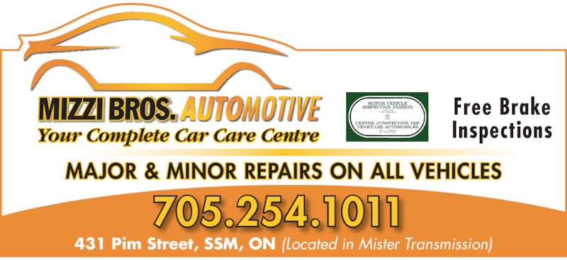 Mizzi bros automotive opening hours 431 pim st sault ste marie on