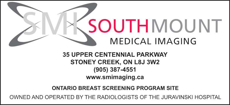 SouthMount Medical Imaging (905-387-4551) - Display Ad - SOUTH MOUNT MEDICAL IMAGING SMI