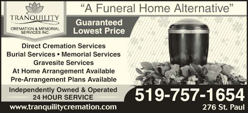 Tranquility Burial & Cremation Services Inc