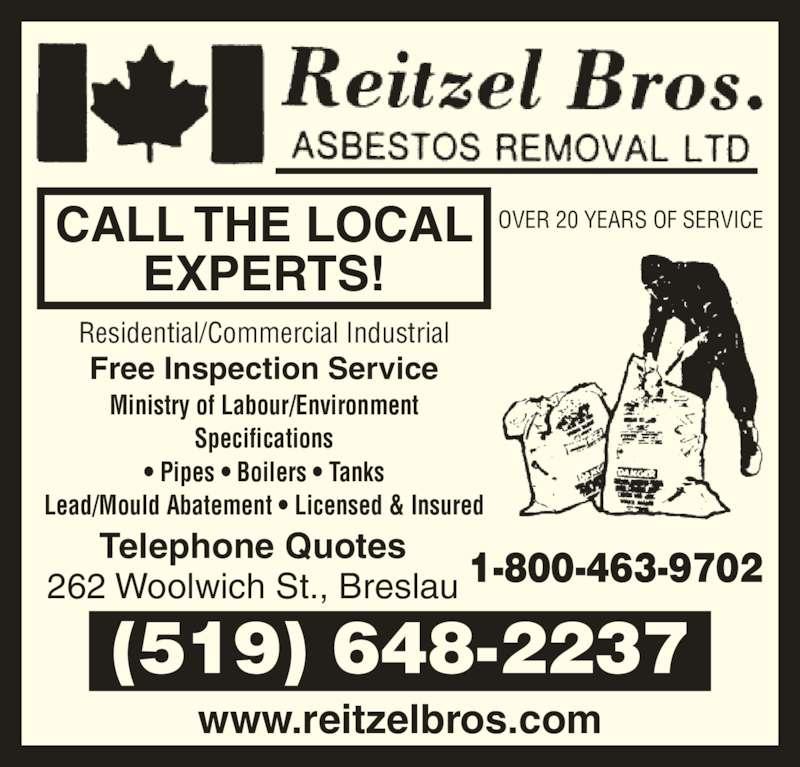 Reitzel Bros Asbestos Removal Ltd Opening Hours
