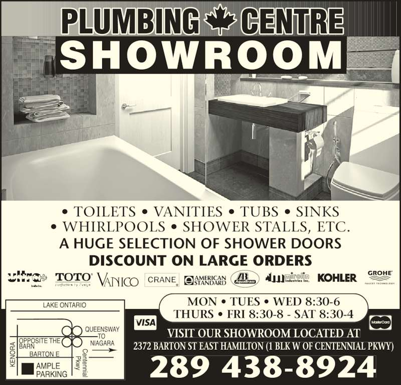Plumbing Centre Opening Hours 2372 Barton St E