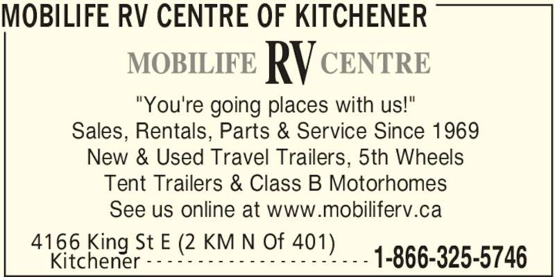 519 653 5788 display ad mobilife rv centre of kitchener kitchener