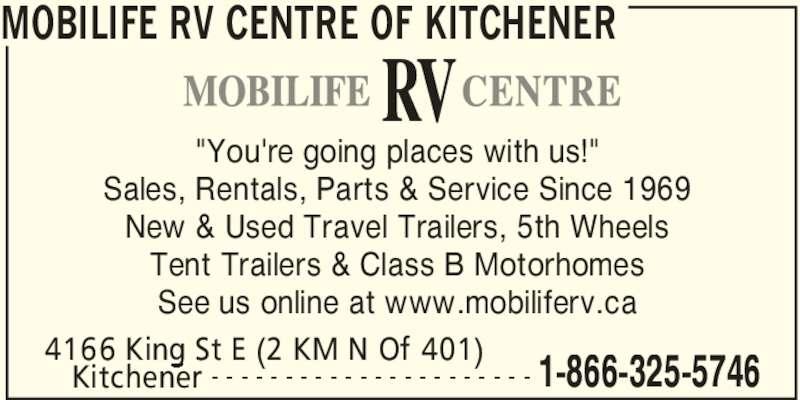 519 653 5788 display ad mobilife rv centre of kitchener kitchener