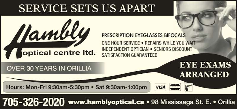 hambly optical centre ltd opening hours 98 mississaga