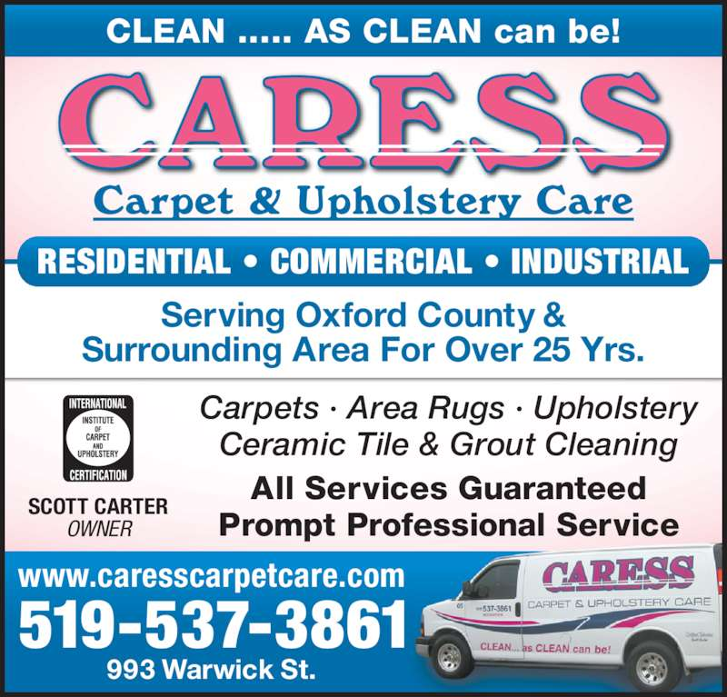 Caress Carpet Amp Upholstery Care Opening Hours 993