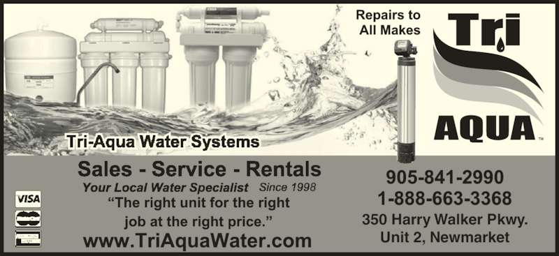Tri Aqua Water Systems 2 350 Harry Walker Pky N