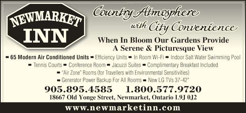 Newmarket Inn (905-895-4585) - Display Ad -