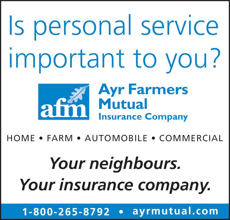 Ayr Farmers Mutual Insurance Company Opening Hours