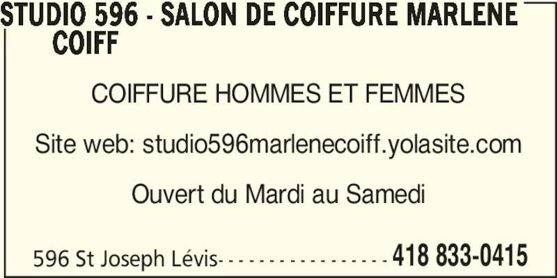 Salon de coiffure marl ne coiffe studio 596 l vis qc for Salon de coiffure pres de chez moi