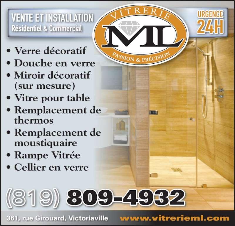 Vitrerie michel lavigne victoriaville qc 361 rue for Miroir decoratif montreal