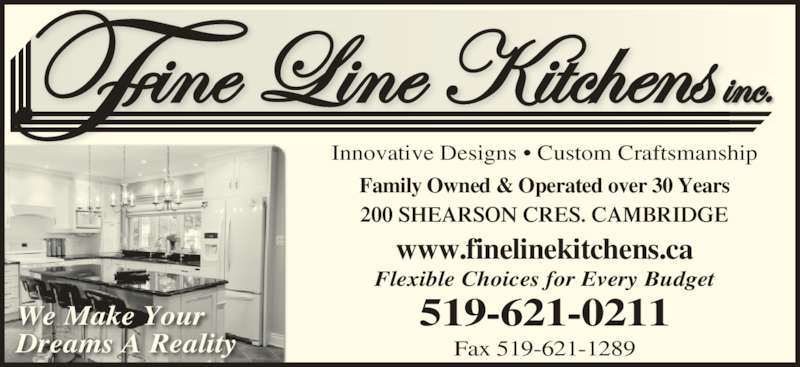 Fine Line Kitchens Inc Opening Hours 200 Shearson Cres