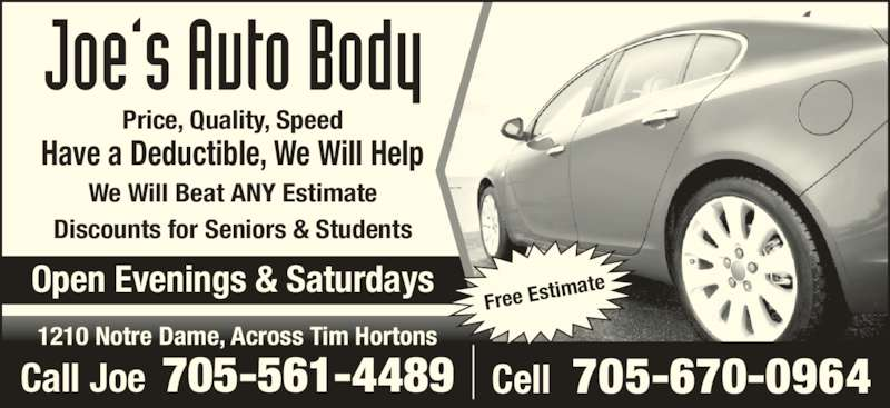 Auto body paint shop scarborough