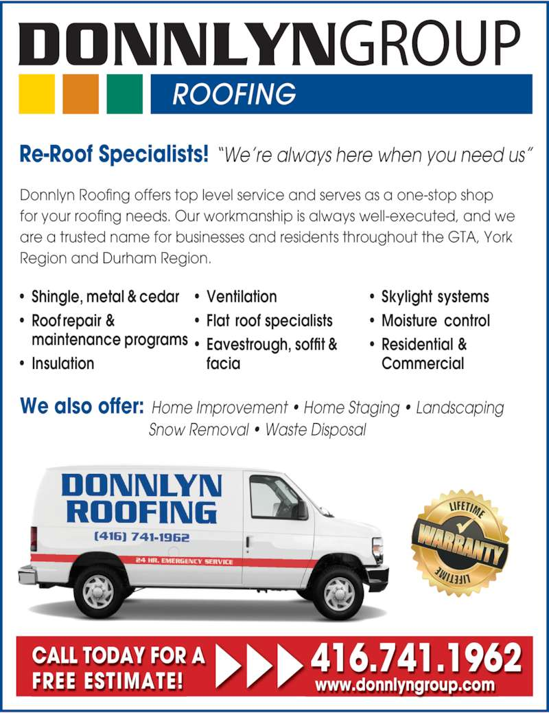Donnlyn Roofing Opening Hours 12275 Woodbine Ave S