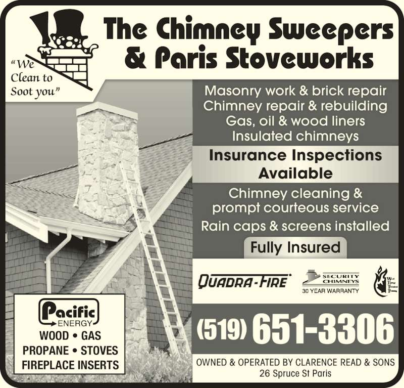 Paris Stove Works Amp Chimney Cleaning 26 Spruce St Paris On