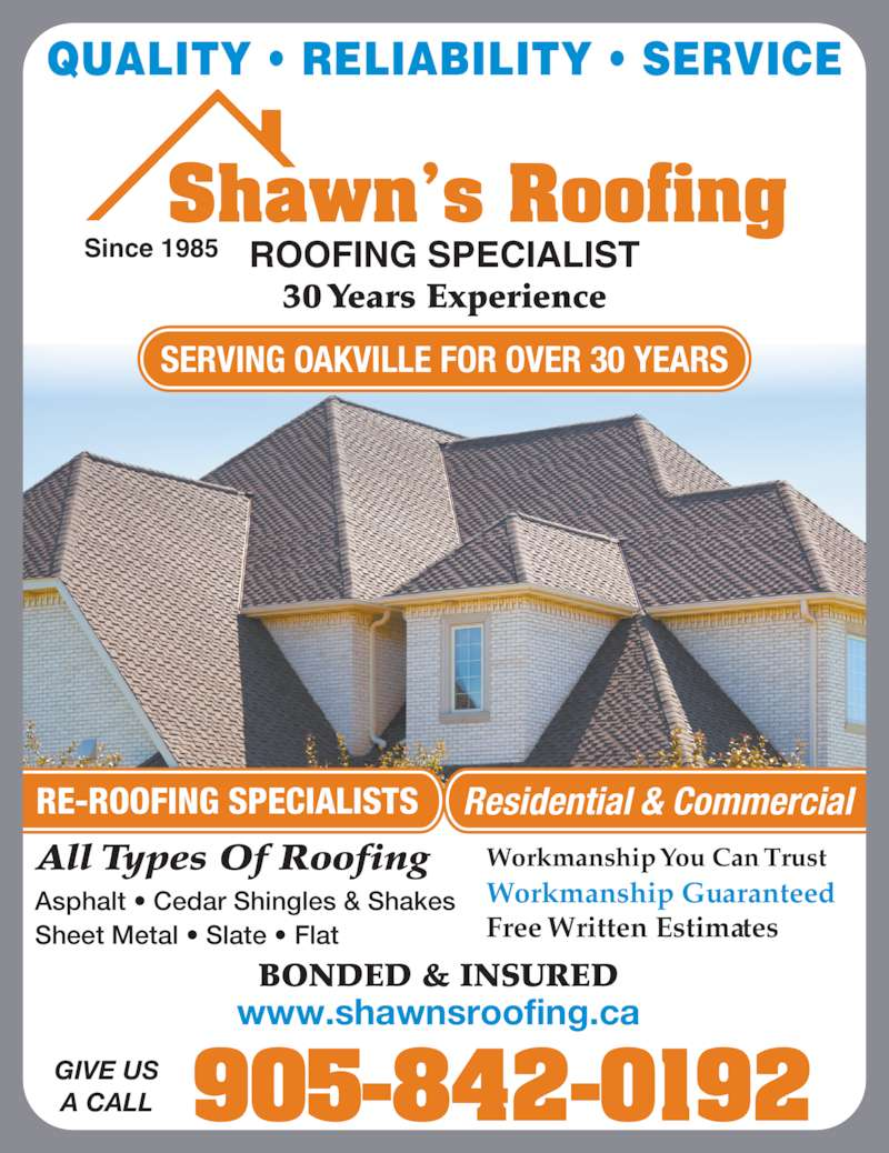 Shawn S Roofing Opening Hours 1350 Hampton St