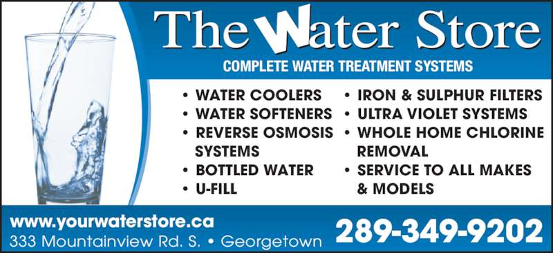 The Water Store Opening Hours 333 Mountainview Rd S