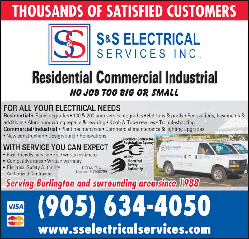 S s electrical services inc opening hours 1442 for Industrial design services inc