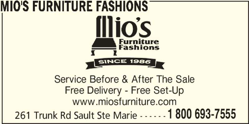 Mio S Furniture Fashions Sault Ste Marie On 261 Trunk