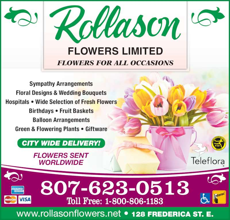 Baby Gift Baskets Thunder Bay : Rollason flowers limited opening hours frederica