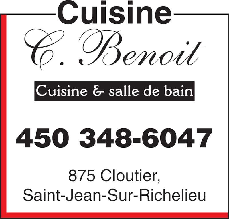 Cuisine c benoit horaire d 39 ouverture d 875 rue for Armoire de cuisine st jean sur richelieu