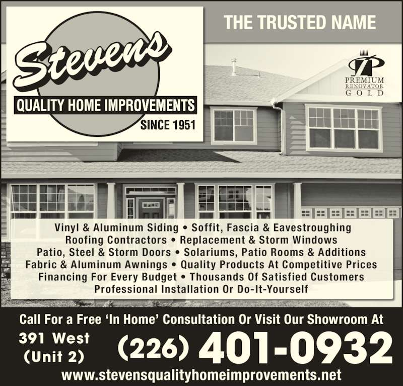 Stevens Home Improvements Brantford On 391 West St