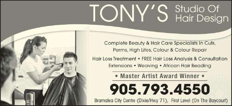 Tony S Studio Of Hair Design Brampton On