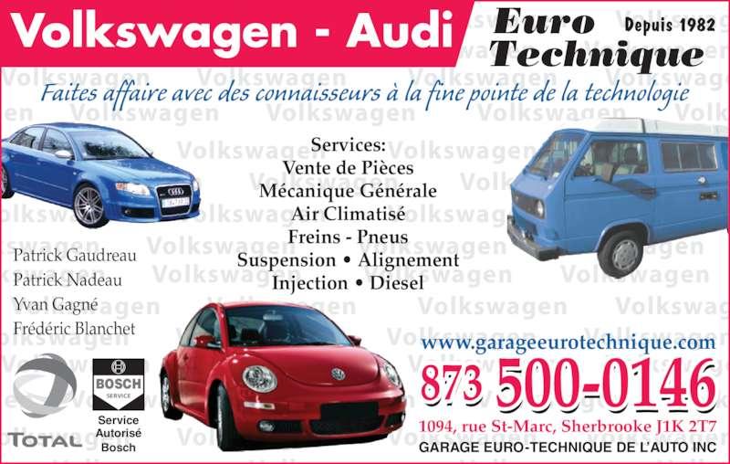 Garage euro technique de l 39 auto inc sherbrooke qc for Garage ad st laurent de la plaine