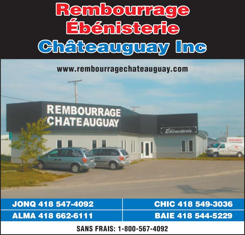 Rembourrage et eb nisterie ch teauguay inc jonqui re qc for Meuble chateauguay