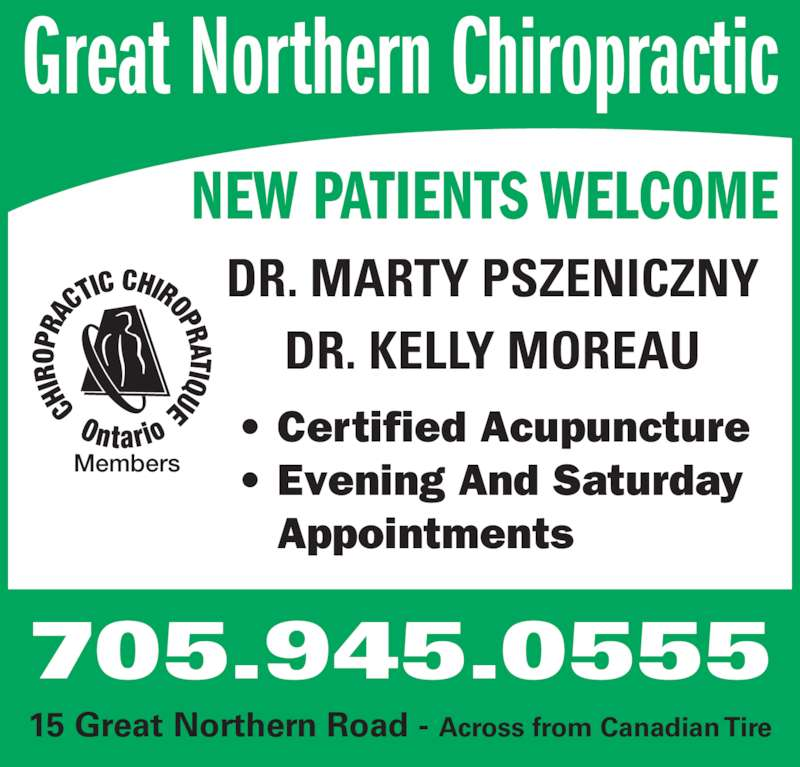great northern chiropractic opening hours  great northern  sault ste marie